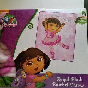 Dora the Explorer Ballerina Royal Plush  Blanket